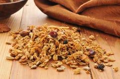 Gezonde organische granola Royalty-vrije Stock Afbeelding