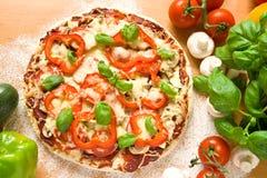 Gezonde pizza Stock Afbeelding