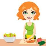 Gezonde Plantaardige Salade Royalty-vrije Stock Afbeelding