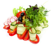Gezonde plantaardige salade stock fotografie