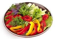 Gezonde salade Royalty-vrije Stock Afbeeldingen