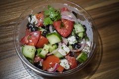 Gezonde salade in een kom royalty-vrije stock foto