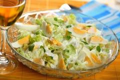 Gezonde salade met eieren Royalty-vrije Stock Foto