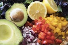 Gezonde saladeingrediënten Royalty-vrije Stock Foto's