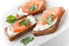 Gezonde sandwich Stock Afbeelding