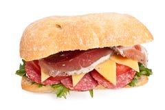 Gezonde sandwich Ciabatta Stock Afbeeldingen