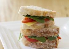 Gezonde sandwich horizontale ruimte voor tekst Royalty-vrije Stock Foto's