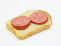 Gezonde sandwich met worst Stock Foto