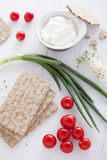 Gezonde sandwichingrediënten Stock Afbeelding