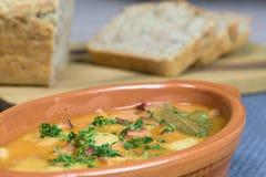 Gezonde schotel - gebakken bonen - fasolkapo bretonsku Stock Afbeeldingen