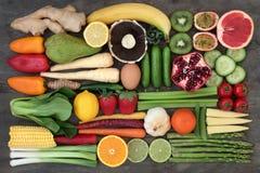 Gezonde Super Voedselselectie royalty-vrije stock afbeelding