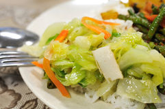 Gezonde vegetarische vastgestelde maaltijd Stock Foto's