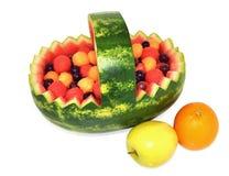 Gezonde vers fruitmand Stock Afbeeldingen