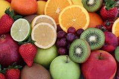 Gezonde Vers Fruitselectie royalty-vrije stock afbeeldingen