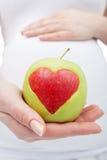 Gezonde voeding tijdens zwangerschap Royalty-vrije Stock Foto's