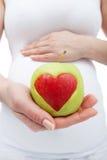 Gezonde voeding tijdens zwangerschap Stock Foto