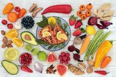 Gezonde voedingvoedsel om Hartgezondheid te bevorderen Stock Afbeeldingen