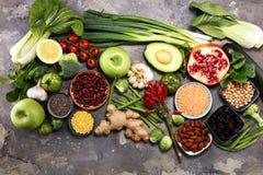 Gezonde voedsel schone het eten selectie E royalty-vrije stock foto