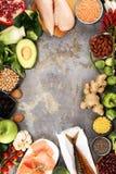 Gezonde voedsel schone het eten selectie E stock afbeeldingen