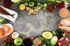 Gezonde voedsel schone het eten selectie E royalty-vrije stock afbeelding