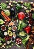Gezonde voedsel schone het eten selectie E stock foto's