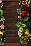 Gezonde voedsel schone het eten selectie E royalty-vrije stock fotografie