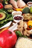 Gezonde voedsel schone het eten selectie E stock fotografie