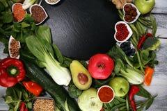 Gezonde voedsel schone het eten selectie E stock afbeelding