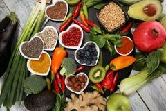 Gezonde voedsel schone het eten selectie E royalty-vrije stock afbeeldingen