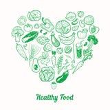 Gezonde voedselachtergrond Vector Illustratie