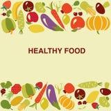 Gezonde voedselachtergrond - Illustratie Royalty-vrije Stock Fotografie
