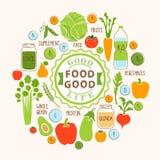 Gezonde voedselachtergrond van verse groente, rooster Stock Fotografie