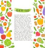 Gezonde voedselachtergrond van verse groente, rooster Royalty-vrije Stock Foto