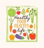 Gezonde voedselachtergrond van verse groente, rooster Stock Foto's