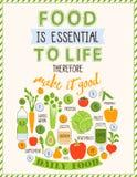 Gezonde voedselachtergrond van verse groente, rooster Royalty-vrije Stock Afbeelding
