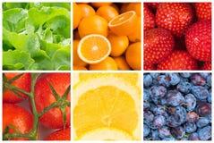 Gezonde voedselachtergronden Royalty-vrije Stock Afbeeldingen