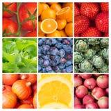 Gezonde voedselachtergronden Stock Fotografie