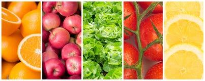 Gezonde voedselachtergronden Stock Afbeeldingen