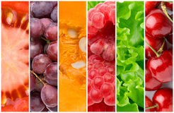 Gezonde voedselachtergronden Stock Afbeelding