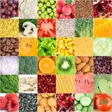 Gezonde voedselachtergronden Royalty-vrije Stock Foto's