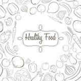 Gezonde voedselaffiche royalty-vrije illustratie