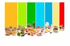 Gezonde voedselgids Royalty-vrije Stock Foto's