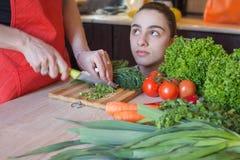 Gezonde voedselvoorbeelden Gezonde voedselpunten Stock Foto's