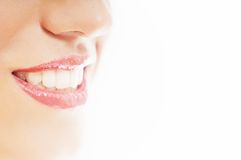 Gezonde witte glimlach Stock Foto