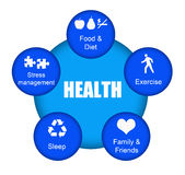 Gezondheid stock illustratie