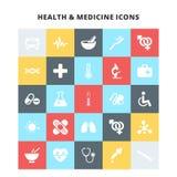 Gezondheid en geneeskundepictogrammen stock illustratie