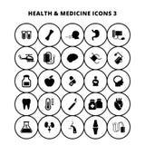 Gezondheid en geneeskundepictogrammen vector illustratie