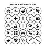 Gezondheid en geneeskundepictogrammen royalty-vrije illustratie