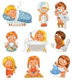 Gezondheid en hygiëne royalty-vrije illustratie