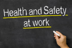 Gezondheid en Veiligheid op het werk Stock Fotografie